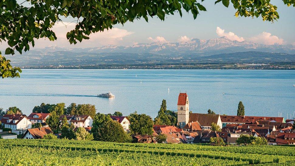 Ganz in der Nähe des Wirtshofs: Hagnau am Bodensee.