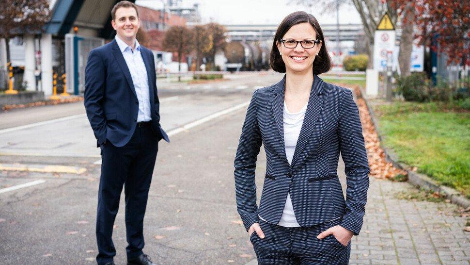 Wie ein Führungstandem funktioniert, leben Saskia Sporys und Daniel Zirnig bei der BASF vor.