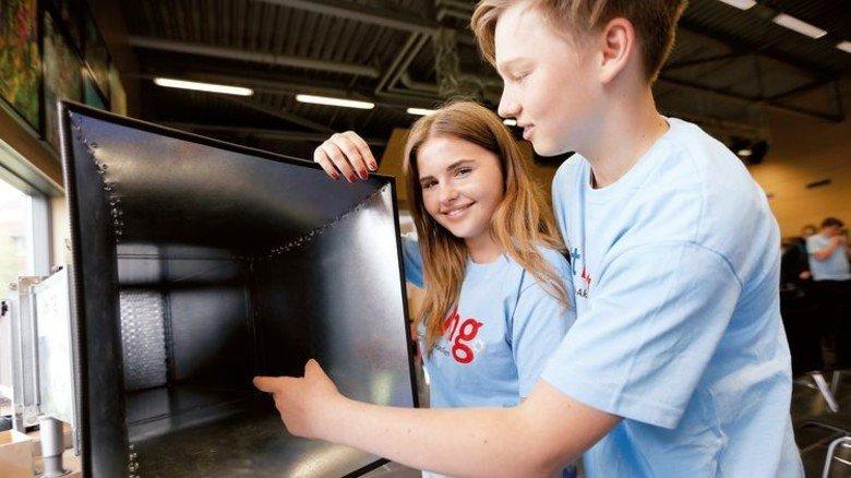 Schnittig: Kronshagener Schüler haben einen Windkanal entwickelt. Foto: Spiering