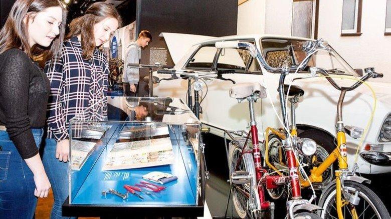 Klapprad: Die praktische Erfindung passt in den Kofferraum. Foto: Luginsland