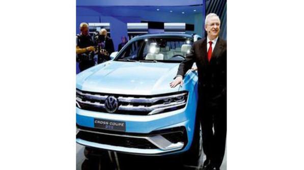 """So präsentiert sich VW in den USA: Die Studie """"Cross Coupé GTE"""", die jüngst auf der Detroit Motor Show zu sehen war. Foto: dpa"""