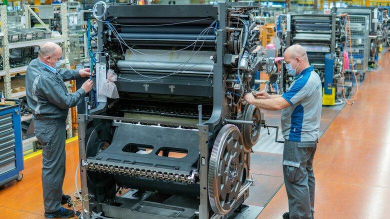 Gesundheitsschutz im Betrieb: Bei Heidelberger Druckmaschinen in Wiesloch-Walldorf wird bald geimpft.