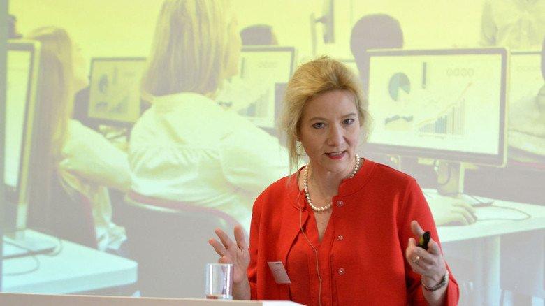 Tipps aus der Praxis: Barbara Ofstad, bei Siemens Ausbildungsleiterin für Deutschland auf dem Hessenmetall-Ausbildungskongress.