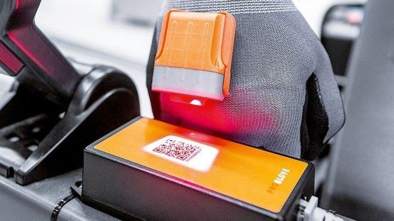 … mit integriertem Barcode-Scanner im Einsatz. Foto: Werk