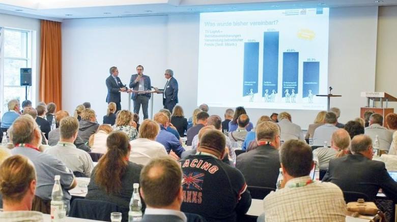 Erwartungsvoll: Die Teilnehmer der Veranstaltung in Potsdam. Foto: Deutsch