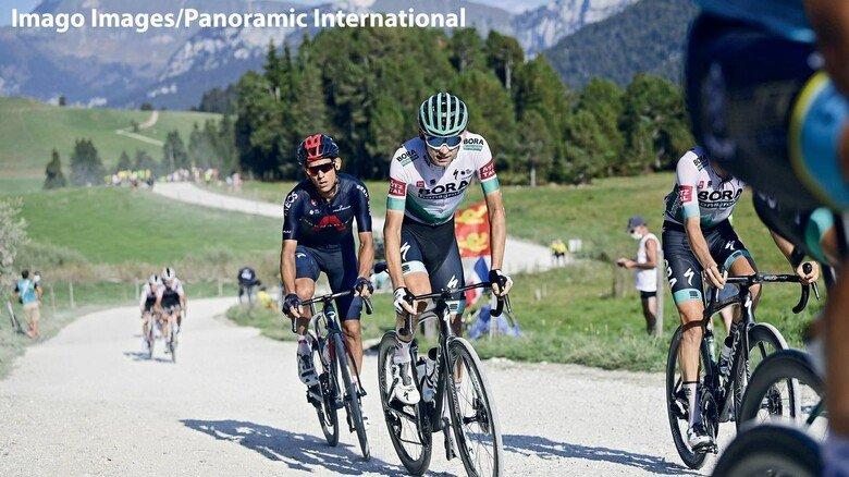 Anspruchsvolle Etappe: Der Deutsche Lennard Kämna auf der Tour 2020.