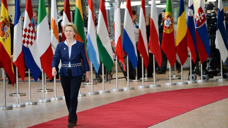 """Beim EU-Gipfel in Brüssel: Kommissionspräsidentin Ursula von der Leyen will einen """"Green Deal""""."""