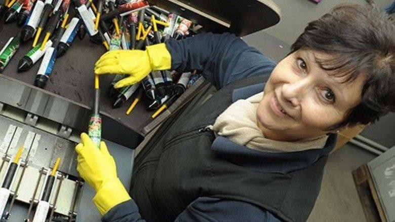 Explosive Jobs: Carmen Malvesado stabt an … Foto: Wirtz