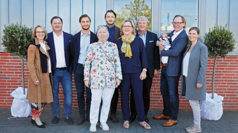 Erfolgreich: Die Geschäftsführung des Unternehmens mit Familie. Foto: Chr. Bock & Sohn/Marco Grundt