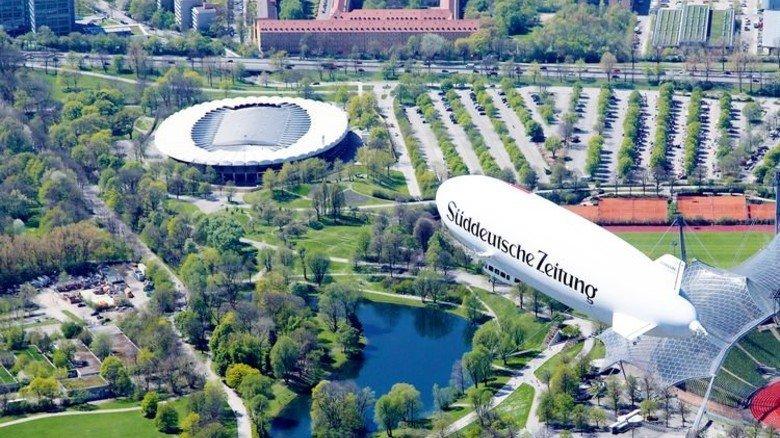 Sightseeing von oben: Mit dem Zeppelin über München. Foto: Mende