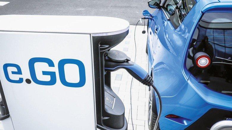 Der Ego: Das kleine elektrische Stadtauto stammt von einem Start-up aus Aachen. Noch mangelt es an Ladestationen.