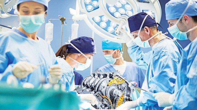 Vom Virus infiziert: Der Motor unserer Wirtschaft, die Metall- und Elektro-Industrie, braucht eine kluge Therapie.
