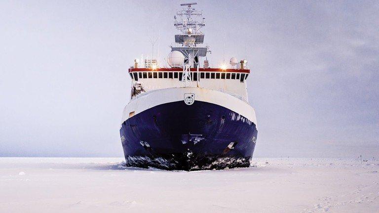 """Eisbrecher: Das deutsche Forschungsschiff """"Polarstern"""" ist Gegenstand einer großen Ausstellung im Deutschen Schifffahrtsmuseum."""