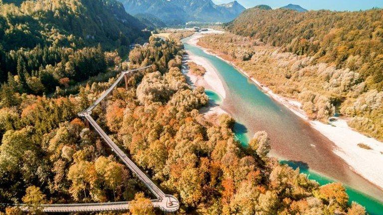 Über die Grenze: Von Bayern nach Tirol auf dem Baumkronenweg Ziegelwies. Foto: Struck