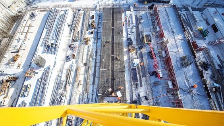 """Von oben: """"Stuttgart 21"""", eine der größten Baustellen bundesweit. Foto: dpa"""