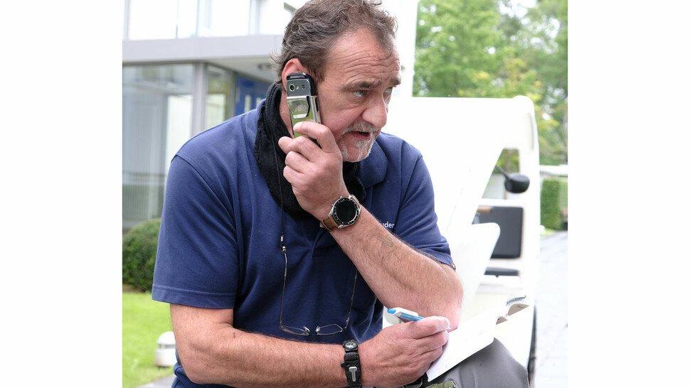 Stets im Einsatz: Das Handy hat Wilke immer parat.