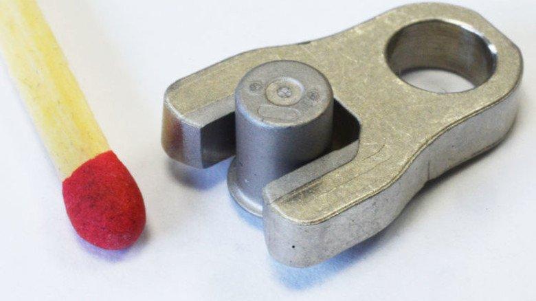 Bauteile für Pkw-Abgasturbolader: Sie sind aus zwei verschiedenen Metallen gesintert – so etwas gab es bisher nicht. Foto: Sturm