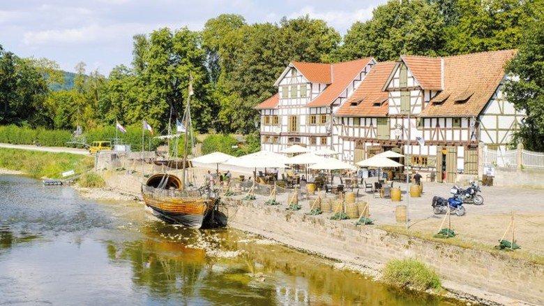 Alter Werra-Hafen: Ein heute bei Touristen beliebtes Ausflugslokal. Foto: Roth