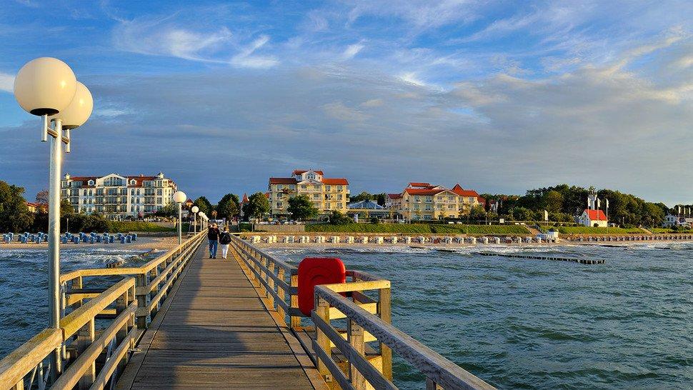 Mehr Urlaubsstimmung geht nicht: Kühlungsborn liegt direkt am schönen Ostsee-Sandstrand.