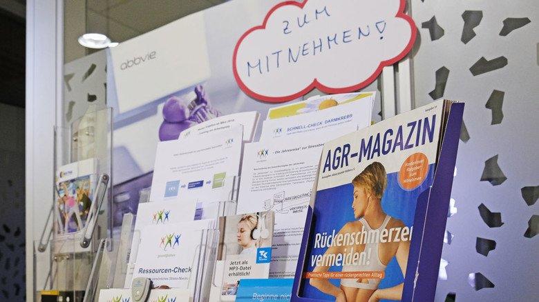 Information: Wer Hilfe benötigt, kann sich bei den Betriebsärzten mit Broschüren zu den verschiedensten Themen eindecken.