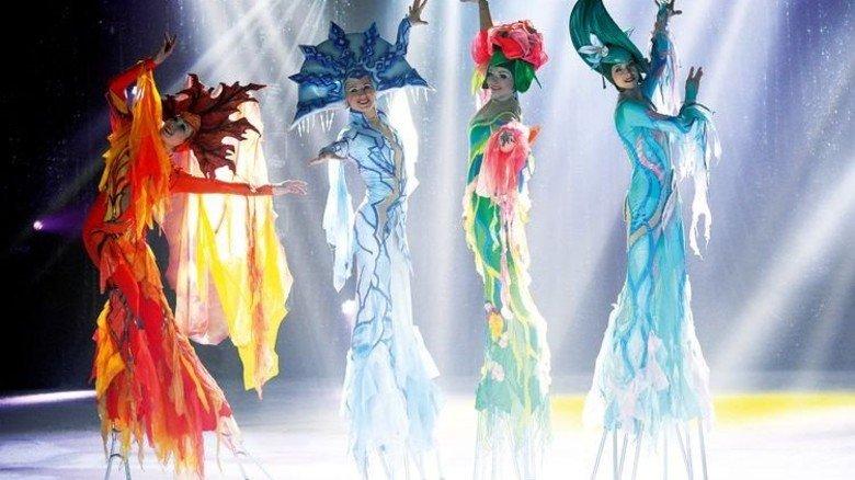 """Spektakulär: Der """"Moscow Circus on Ice"""" ist derzeit wieder auf Tour. Foto: Funke"""