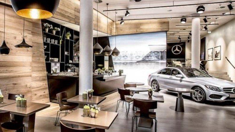 """Chic: In der Hamburger Innenstadt hat Mercedes den ersten """"Me Store"""" eröffnet. Foto: Werk"""