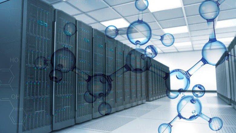 Riesig und richtig smart: So ähnlich wie auf dieser Illustration soll der neue Supercomputer aussehen. Fotos: HPE, Fotolia