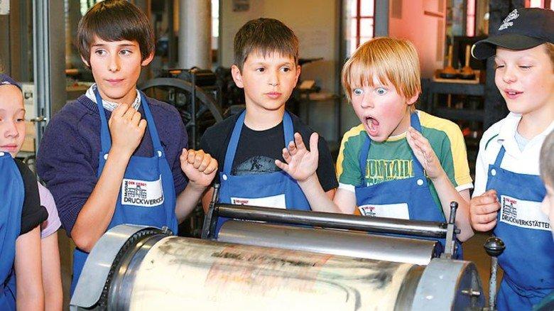 … dann wird gedruckt. Foto: SHMH/Ulrike Pfeiffer, SHMH Museum der Arbeit