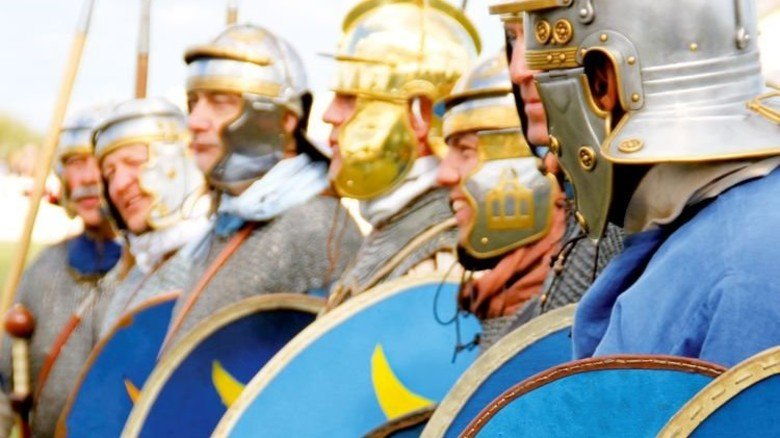 Feiern mit Soldaten und Gladiatoren: Hoffest in Augsburg. Foto: Mayer