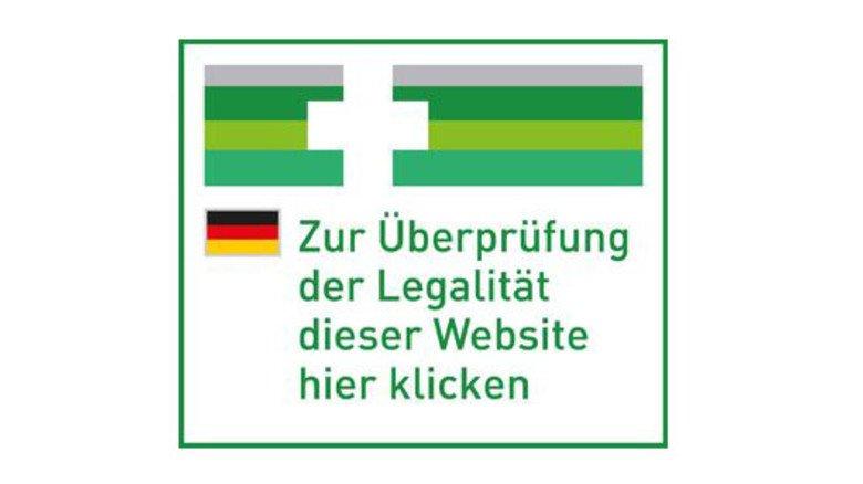 An diesem EU-Sicherheitslogo erkennen Sie Apotheken, die Medikamente über das Internet verkaufen dürfen