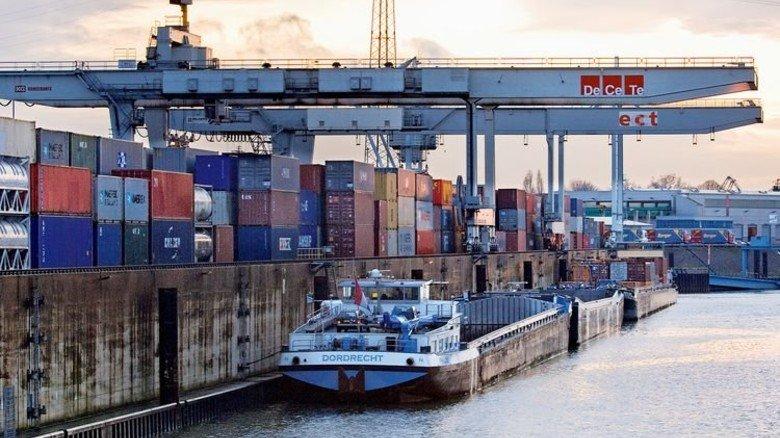 Duisburger Hafen: Umschlagplatz für Güter in alle Welt. Foto: Funke