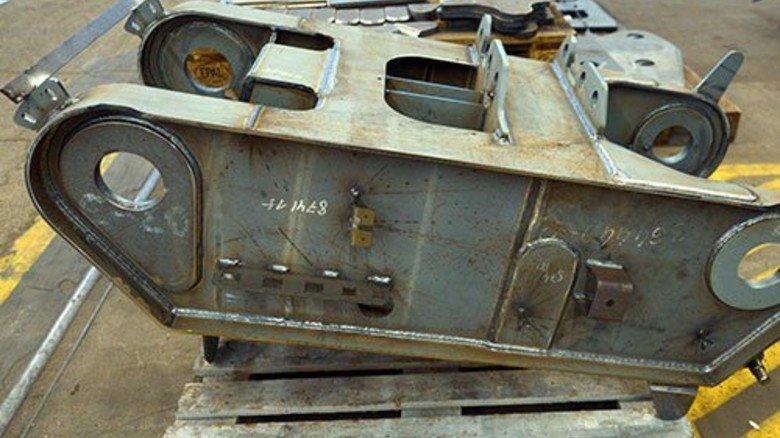 Spitzen-Technik: Das Kopfstück eines großen Mobilkrans. Foto: Augustin