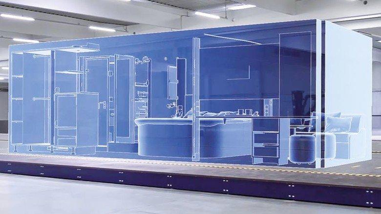 Blick in das Innere: Die Standard-Passagier-Kabine der Wismarer hat eine nutzbare Grundfläche von annähernd 20 Quadratmetern. Illustration: Werk