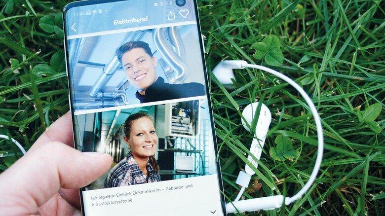 """Cool: In der App """"ME-Berufe"""" finden junge Leute Infos – und auch gleich Ausbildungsbetriebe."""