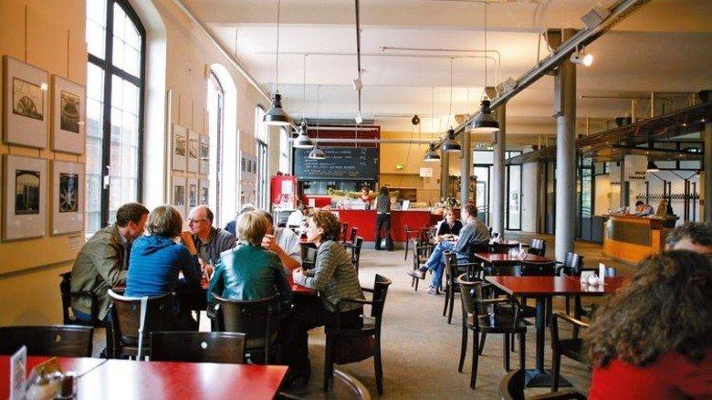 Genießen: Wer eine Pause braucht, setzt sich ins Café. Foto: SHMH/Ulrike Pfeiffer, SHMH Museum der Arbeit