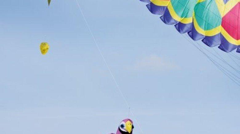 Himmelsstürmer: Die bunten Flugobjekte haben bald wieder ihren großen Auftritt. Foto: Higo