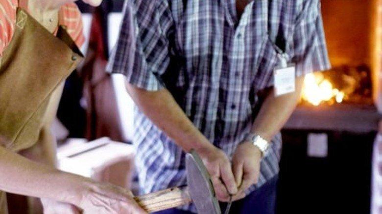 Hammer-Job: Schmieden wie zu Urgroßvaters Zeiten. Foto: LWL