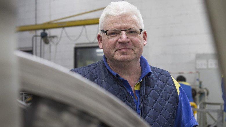 Lange dabei: Seit über 30 Jahren ist Klaus Maurer im Unternehmen, früher in der Produktion, jetzt in der Materialkontrolle.