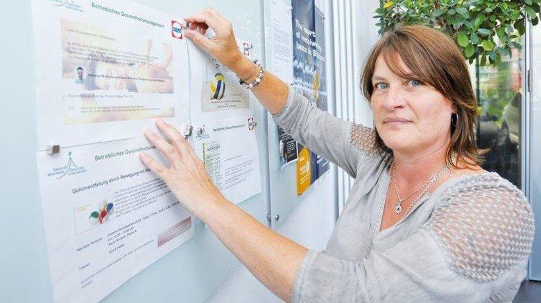 Auf Zack: Christine Weber leitet das betriebliche Gesundheitsmanagement. Foto: Sigwart