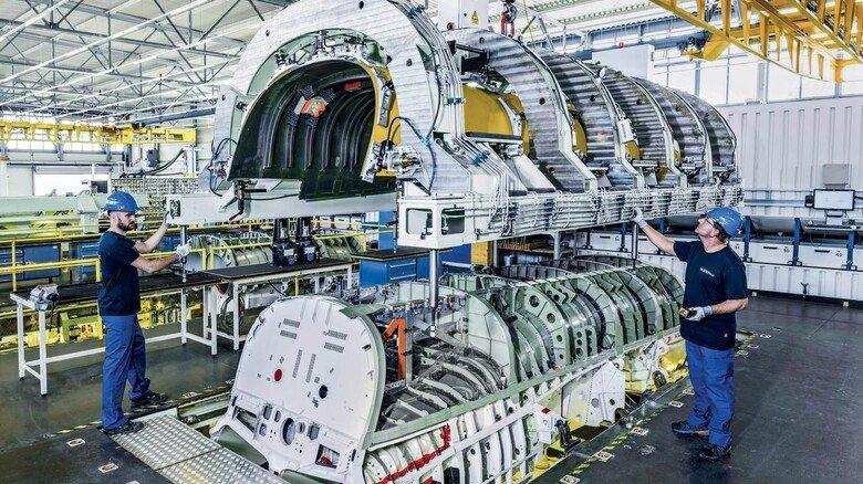 Zulieferer: Bei der Airbus- Tochterfirma Premium Aerotec werden Teile des Eurofighter-Rumpfs gefertigt.