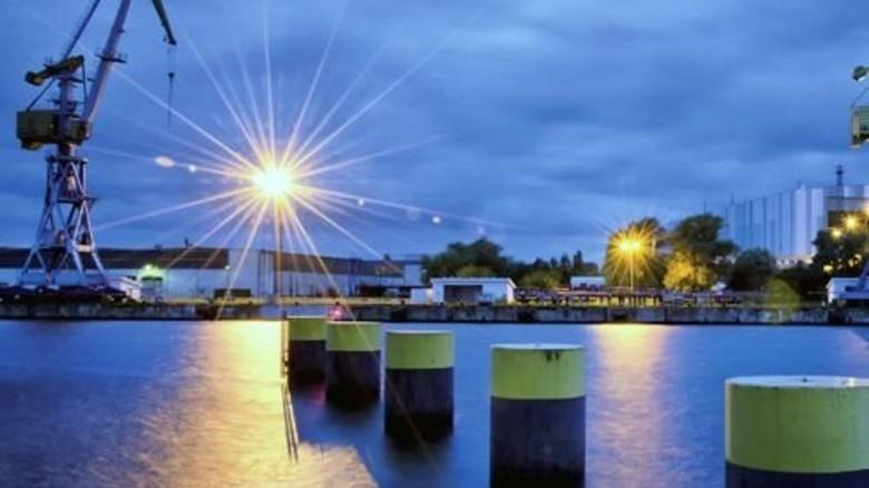 Verkauft: Die Werft in Wismar. Foto: Werk