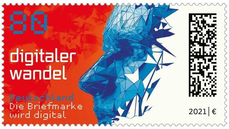 Seit dem 4. Februar am Schalter: Deutschlands erste Briefmarke mit Matrix-Code.