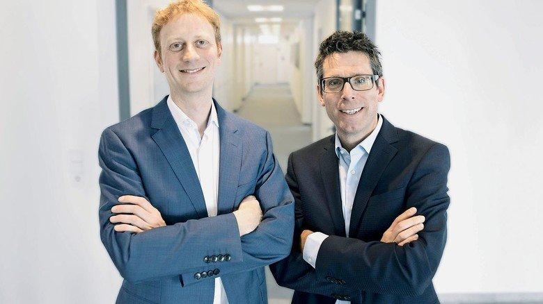 Gut vernetzt: Die X4B-Geschäftsführer Christian Hentschel und Markus Humpert (rechts).