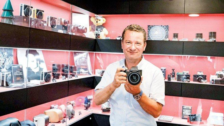 Fotohändler Frank Lambertin: Er hofft nach dem herben Corona-Einschnitt auf bessere Geschäfte.