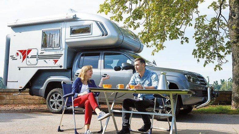 Komfort-Camper: Auch Wohnkabinen sind derzeit gefragt. Foto: dpa
