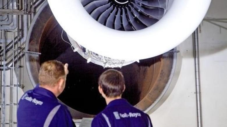 """Triebwerk: Das leise """"Trent XWB"""" hat Rolls-Royce für den Airbus gebaut. Foto: Werk"""