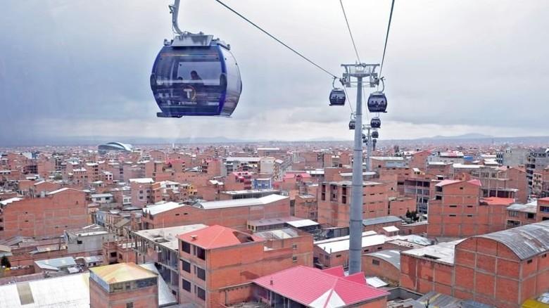 La Paz: Hier entsteht das längste städtische Seilbahnnetz der Welt. Foto: Reuters