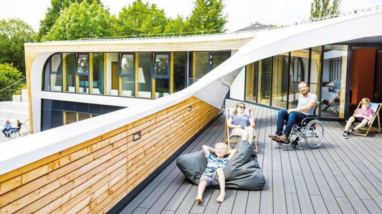 Der Neubau der Jugendherberge Bayreuth ist modern und chic – und auf Menschen mit Behinderung eingestellt. Foto: DJH Landesverband Bayern