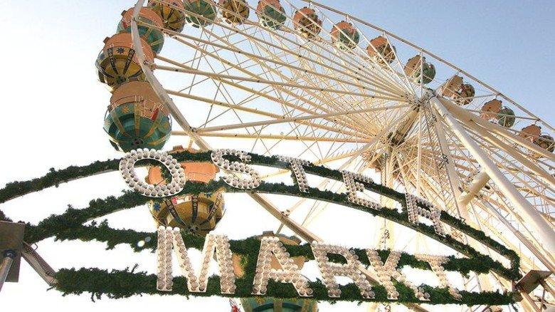 Fahrspaß: Zwei Wochen lang dauert der Ostermarkt in Rostock. Foto: Großmarkt Rostock