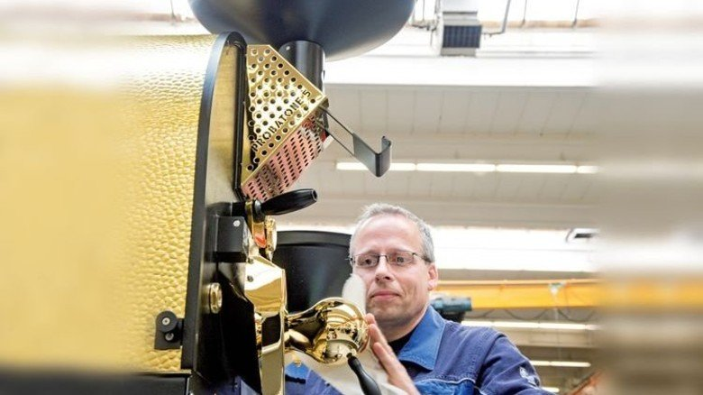 Probat-Werke in Emmerich: Das Familienunternehmen ist bei Kaffeeröstmaschinen weltweit führend. Foto: Roth